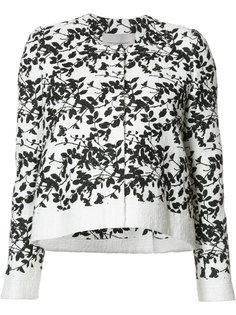 укороченная куртка с цветочным узором Carolina Herrera