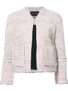 твидовый пиджак без воротника Proenza Schouler
