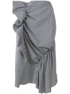 драпированная юбка в клетку  J.W.Anderson
