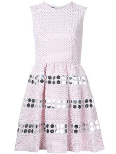 расклешенное декорированное платье  Jourden
