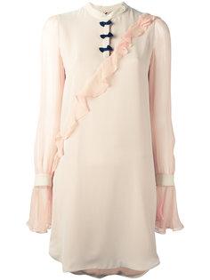 платье с оборками Marco De Vincenzo