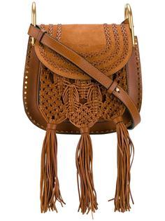 маленькая плетеная сумка Hudson Chloé