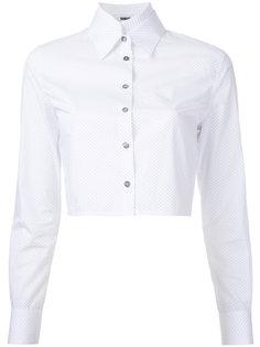 укороченная рубашка в горошек  Jourden