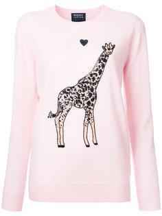 свитер с аппликацией жирафа  Markus Lupfer