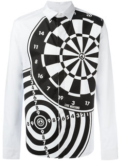 рубашка с принтом мишеней Love Moschino