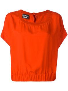 блузка с эластичным подолом Boutique Moschino