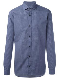 рубашка с тональным узором Z Zegna