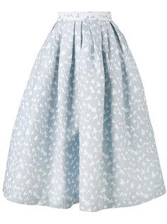 пышная жаккардовая юбка миди House Of Holland