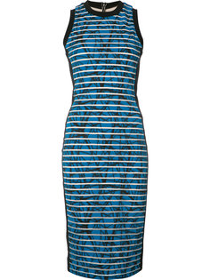 striped fitted dress Nicole Miller