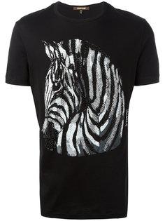 декорированная футболка с принтом Roberto Cavalli