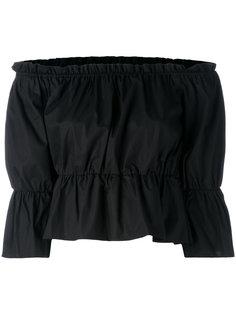блузка с открытыми плечами  Dondup
