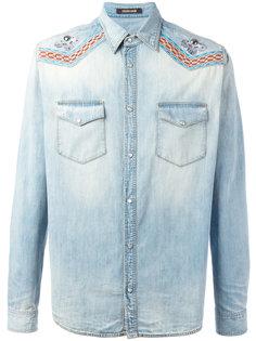 джинсовая рубашка с вышивкой Roberto Cavalli