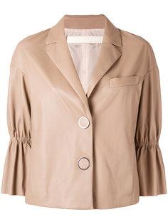 укороченная кожаная куртка Drome