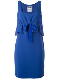 платье с завязками спереди Moschino