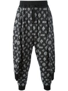 спортивные брюки с узором-монограммой KTZ