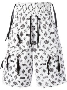 шорты с узором-монограммой KTZ