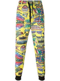 спортивные брюки с принтом Moschino