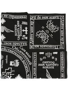 платок с принтом KTZ