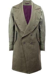 пальто с закругленными лацканами Ann Demeulemeester