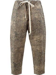 брюки с принтом Uma Wang