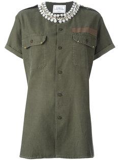 декорированная рубашка в стиле милитари  Forte Couture