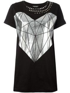 футболка с заклепками и принтом сердца Twin-Set
