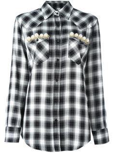 рубашка с декорированными карманами Forte Couture