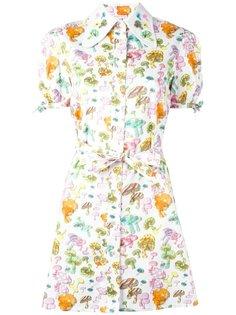 платье-рубашка с принтом грибов Olympia Le-Tan