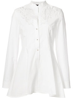 embroidered peplum shirt  Josie Natori