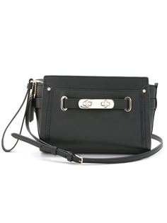 Swagger pebbled wristlet Coach