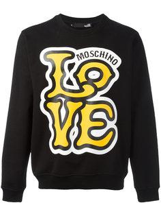 толстовка с принтом Love Love Moschino