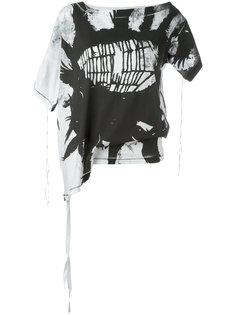 асимметричная футболка с абстрактным принтом Ann Demeulemeester