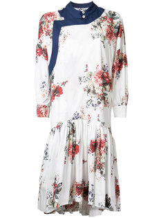floral print gathered dress Antonio Marras