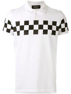 рубашка-поло с принтом в клетку Dsquared2