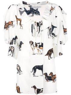 блузка с принтом собак Stella McCartney