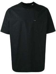 футболка с карманом на молнии Dsquared2