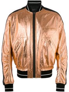 куртка бомбер с эффектом металлик Haider Ackermann