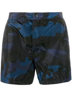 шорты для плавания с камуфляжным принтом  Valentino