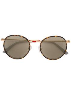 tortoiseshell oversized sunglasses Linda Farrow