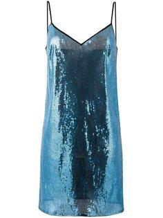 платье шифт с пайетками Marco De Vincenzo