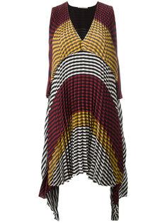 плиссированное платье в клетку Marco De Vincenzo
