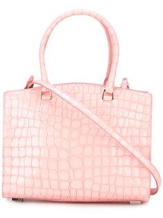 сумка-тоут с эффектом крокодиловой кожи Rochas