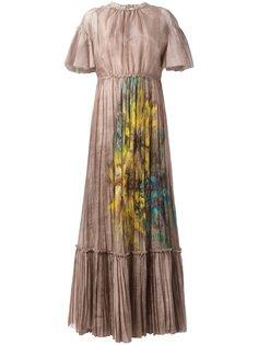 вечернее платье с рисунком цветов Valentino