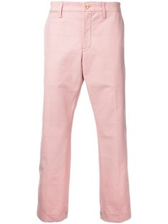 брюки с клетчатым узором Sacai