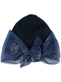 шапка-бини с блестящим бантом Federica Moretti