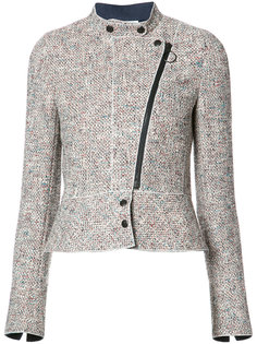 off centre zip tweed jacket  Akris Punto