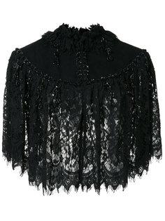 cropped lace jacket  Co