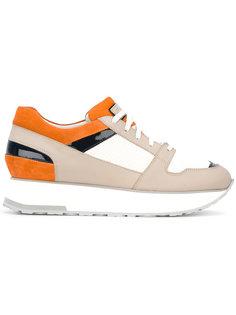 кроссовки с панельным дизайном  Santoni