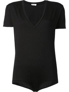 v-neck short sleeved bodysuit Alix