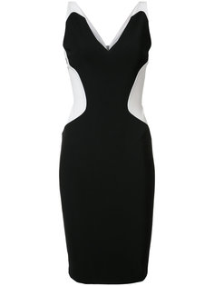 contrast sweetheart neck dress Mugler